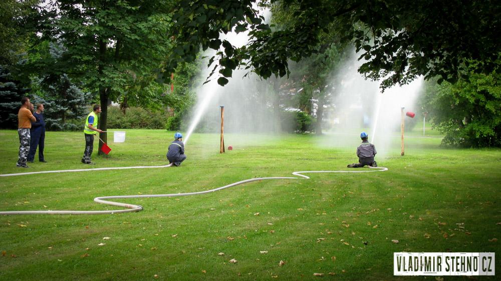 Hasičská soutěž v požárním útoku, Bezděkov, 13.08.2011.